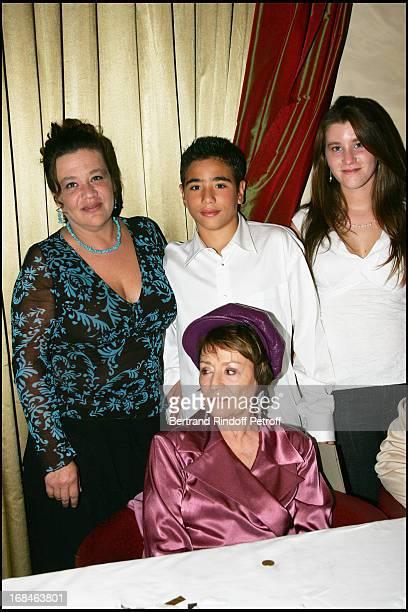 Annie Girardot , daughter Guilia Salvatori , and grand children Renato and Lola - Alain Delon and Muriel Robin celebrate Annie Girardot birthday by...