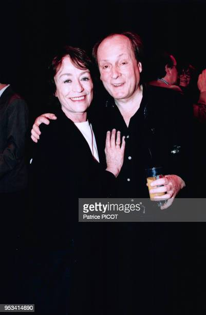 Annie Girardot et Frédéric Botton au théatre des Bouffes du Nord len juin 1996 Paris France