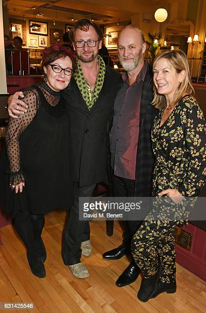 Annie Gosney Vince Leigh Tim McInnerny and Penny Smith attend the press night after party for The Kite Runner at Wyndhams Theatre on January 10 2017...