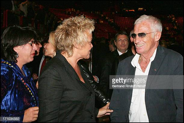 Annie Gregorio Muriel Robin and Jean Paul Belmondo First concert of Barbra Streisand at Bercy in France