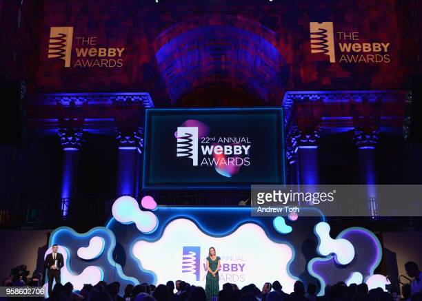 Annie Griffiths onstage at The 22nd Annual Webby Awards at Cipriani Wall Street on May 14 2018 in New York City