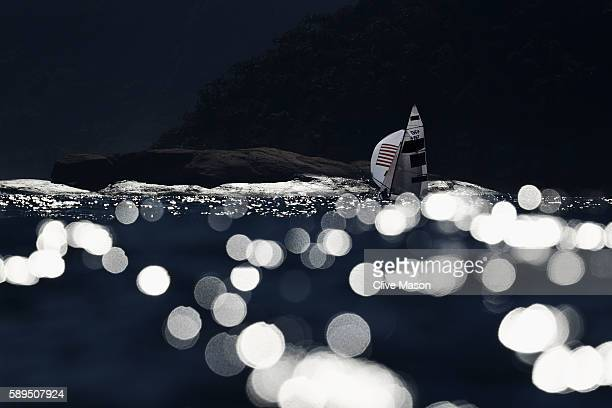 Annie Haeger of the United States and Briana Provancha of the United States compete in the Women's 470 class on Day 9 of the Rio 2016 Olympic Games...
