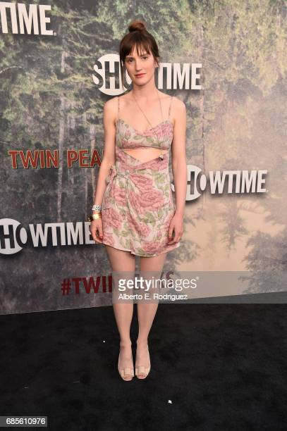Annie Hart attends the premiere of Showtime's 'Twin Peaks' at The Theatre at Ace Hotel on May 19 2017 in Los Angeles California
