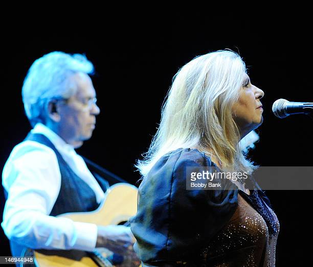 Annie Haslam and Michael Dunford of Renaissance perform during NearFest 2012 at the Zoellner Arts Center on June 23 2012 in Bethlehem Pennsylvania