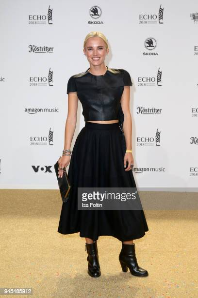 Annie Hoffmann arrives for the Echo Award at Messe Berlin on April 12 2018 in Berlin Germany