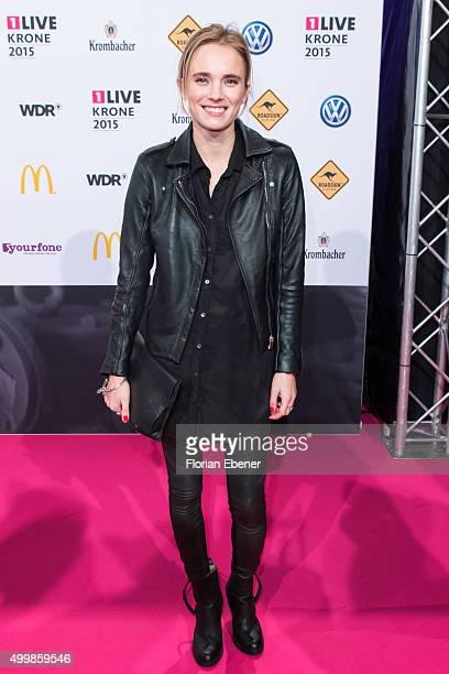 Annie Hoffmann attends the 1Live Krone 2015 at Jahrhunderthalle on December 3 2015 in Bochum Germany