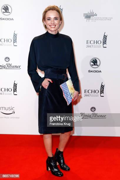 Annie Hoffmann attends the Echo award red carpet on April 6 2017 in Berlin Germany