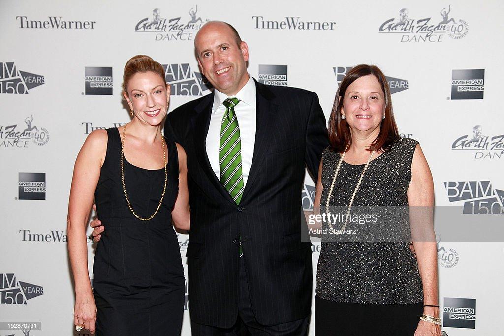 Annie Hubbard, CFO of Goldman Sachs, Harvey Schwartz and BAM president Karen Brooks Hopkins attend BAM 30th Next Wave Gala at Skylight One Hanson on September 27, 2012 in New York City.