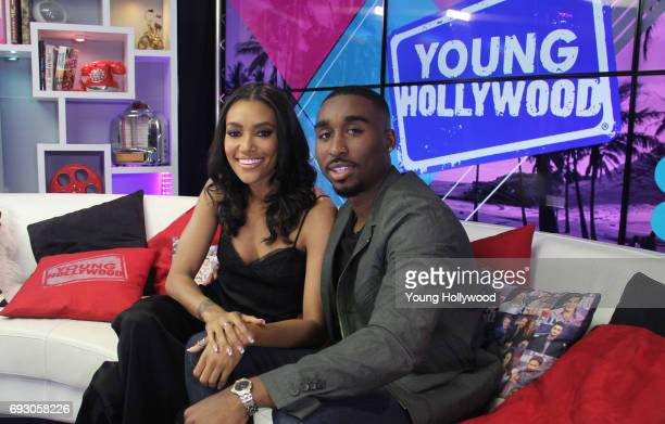 Annie Ilonzeh and Demetrius Shipp Jr at the Young Hollywood Studio on June 5 2017 in Los Angeles California