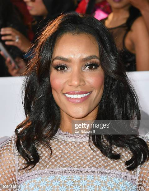 Annie Ilonzeh at the 49th NAACP Image Awards on January 15 2018 in Pasadena California