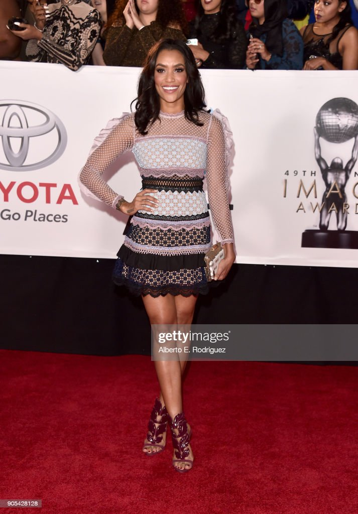 Annie Ilonzeh attends the 49th NAACP Image Awards at Pasadena Civic Auditorium on January 15, 2018 in Pasadena, California.