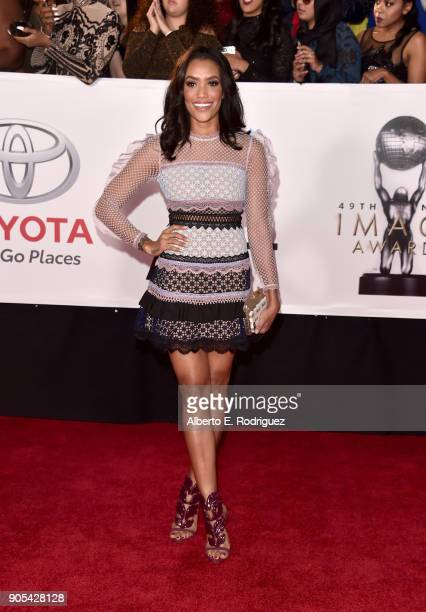 Annie Ilonzeh attends the 49th NAACP Image Awards at Pasadena Civic Auditorium on January 15 2018 in Pasadena California
