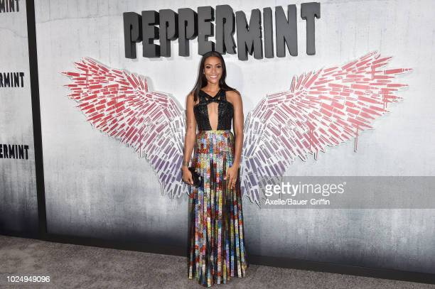 Annie Ilonzeh attends the premiere of STX Entertainment's 'Peppermint' at Regal Cinemas LA LIVE Stadium 14 on August 28 2018 in Los Angeles California