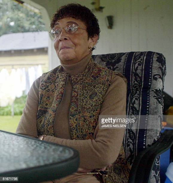 Annie Jackson, the aunt who raised accused sniper John Allen Muhammad after his mother's death when he was three years old, is pictured 25 October 02...