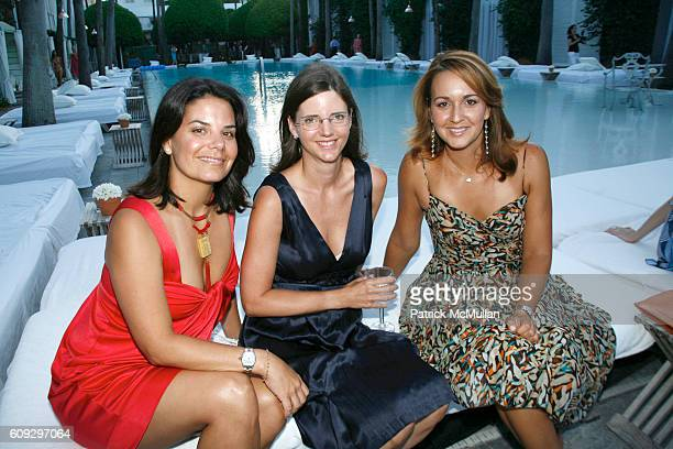 Annie Kadre Michelle Thomas and Mercy Dorta attend Launch of Diane von Furstenberg Soleil Swim and Beach Collection at The Delano on July 13 2007