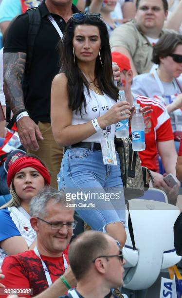 Annie Kilner, girlfriend of Kyle Walker of England attends the 2018 FIFA World Cup Russia group G match between England and Panama at Nizhniy...