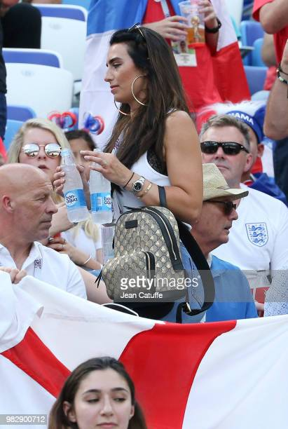 Annie Kilner girlfriend of Kyle Walker of England attends the 2018 FIFA World Cup Russia group G match between England and Panama at Nizhniy Novgorod...