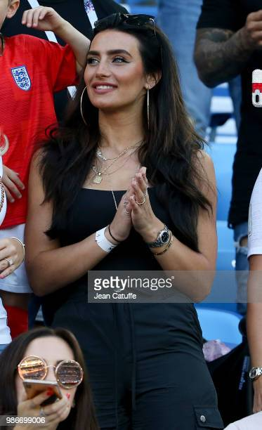 Annie Kilner, girlfriend of Kyle Walker of England during the 2018 FIFA World Cup Russia group G match between England and Belgium at Kaliningrad...