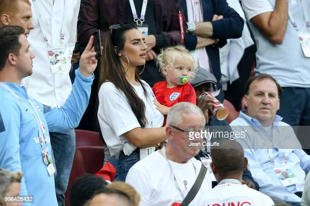 Annie Kilner girlfriend of Kyle Walker of England during the 2018 FIFA World Cup Russia Round of 16 match between France and Argentina at Kazan Arena...
