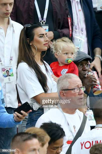 Annie Kilner, girlfriend of Kyle Walker of England during the 2018 FIFA World Cup Russia Round of 16 match between France and Argentina at Kazan...