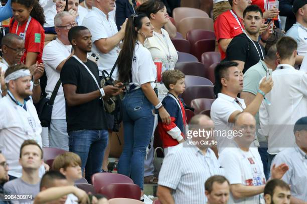Annie Kilner, girlfriend of Kyle Walker of England during the 2018 FIFA World Cup Russia Semi Final match between England and Croatia at Luzhniki...