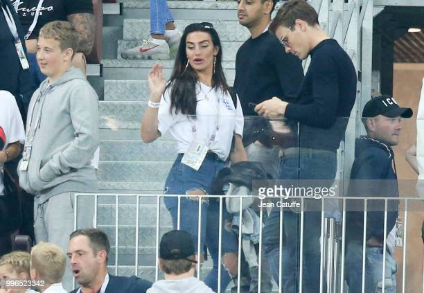 Annie Kilner, girlfriend of Kyle Walker of England following the 2018 FIFA World Cup Russia Semi Final match between England and Croatia at Luzhniki...