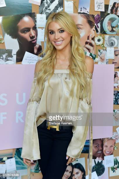 Annie Lawless attends Summer Fridays Skincare Launch With Marianna Hewitt Lauren Gores Ireland at Hayden on March 15 2018 in Culver City California