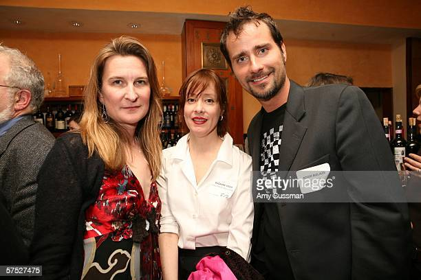 Annie Leahy Suzanne Vega and Adam Balazs attend the Tribeca/ASCAP Composer Dinner at the 5th Annual Tribeca Film Festival held at the Savore May 3...