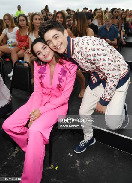 Annie LeBlanc and Asher Angel attend FOX's Teen Choice Awards 2019 on August 11, 2019 in Hermosa Beach, California.