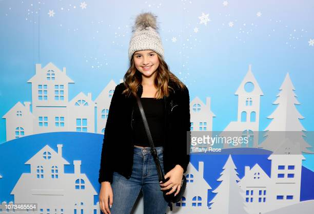 Annie LeBlanc attends Instagram's #Instaskate 2018 at LA Kings Holiday Ice LA Live on November 27 2018 in Los Angeles California
