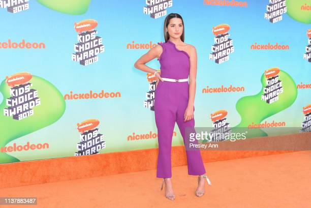 Annie LeBlanc attends Nickelodeon's 2019 Kids' Choice Awards at Galen Center on March 23 2019 in Los Angeles California