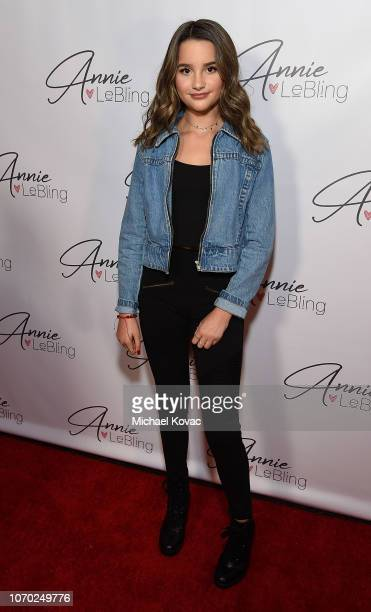 Annie LeBlanc attends the Annie LeBling presents Annie LeBlanc Performance Pop Up Shop on December 8 2018 in Los Angeles California