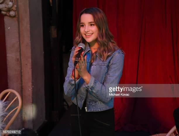 Annie LeBlanc performs at Annie LeBling presents Annie LeBlanc Performance Pop Up Shop on December 8 2018 in Los Angeles California