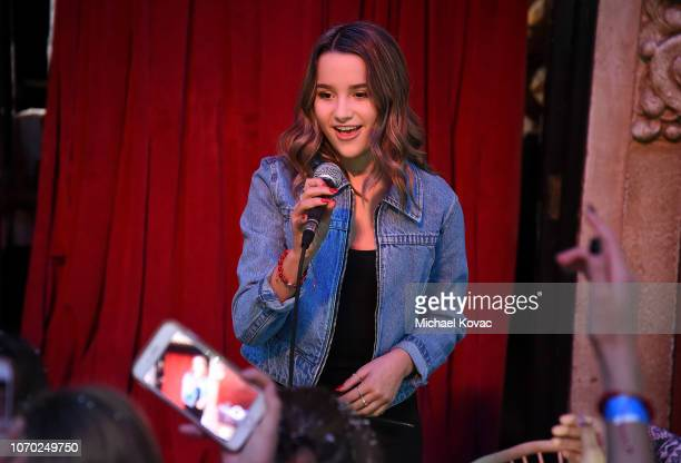Annie LeBlanc performs at Annie LeBling presents Annie LeBlanc Performance Pop Up Shop on December 8 2018 in Los Angeles California
