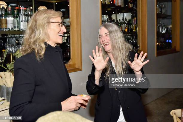 Annie Leibovitz and Patti Smith attend Hauser Wirth Los Angeles Opening of Annie Leibovitz and Piero Manzoni and Musical Performance by Patti Smith...