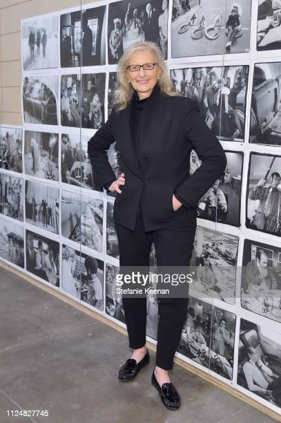 Annie Leibovitz attends Hauser Wirth Los Angeles Opening of Annie Leibovitz and Piero Manzoni and Musical Performance by Patti Smith at Hauser Wirth...