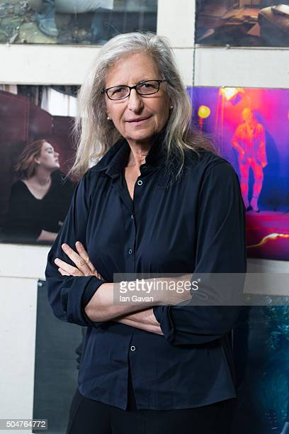 Annie Leibovitz attends the press preview of 'WOMEN New Portraits' exhibition commissioned by UBS at The Wapping Project on January 13 2016 in London...