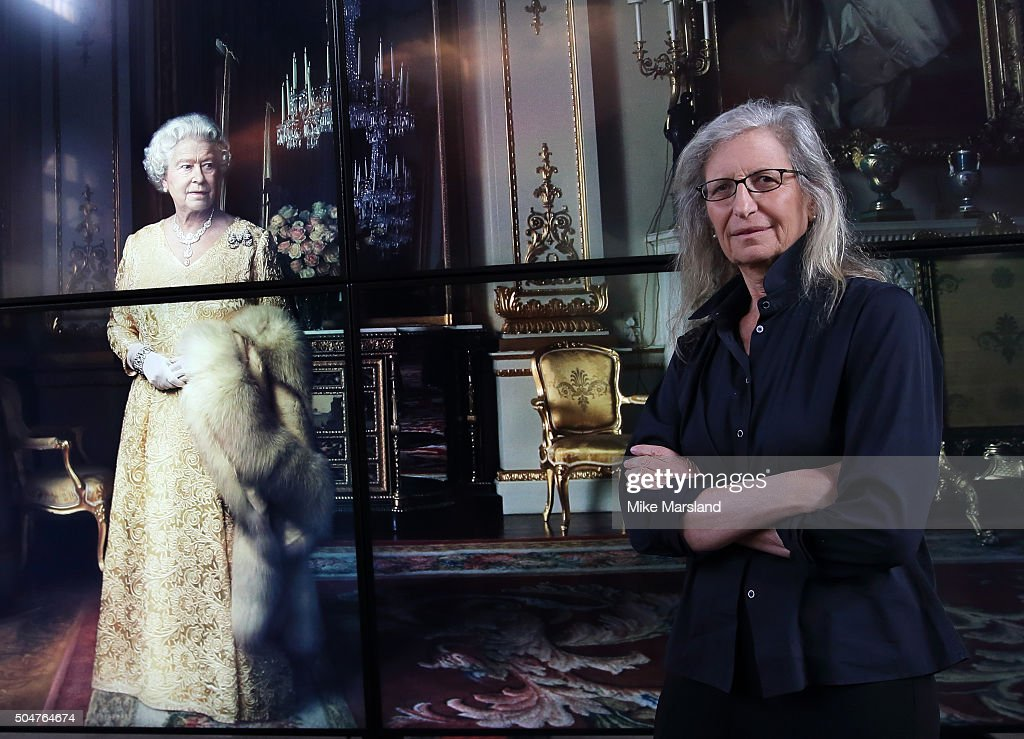 Annie Leibovitz attends the press Preview of 'WOMEN: New Portraits' The Wapping Project on January 13, 2016 in London, England.