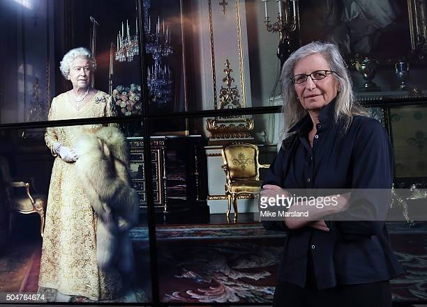 Annie Leibovitz attends the press Preview of 'WOMEN New Portraits' The Wapping Project on January 13 2016 in London England