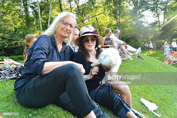 Annie Leibovitz Jane Rose and Ruby Tuesday attend LongHouse Reserve Presents Laurie Anderson's Concert For Dogs at LongHouse Reserve on August 13...