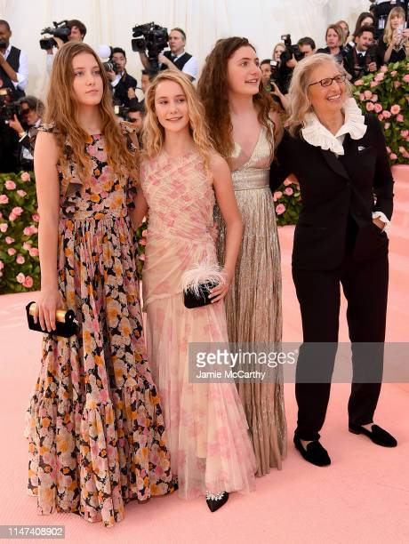 Annie Leibovitz with daughters Sarah Cameron Leibovitz, Samuelle Rhinebeck, and Susan Leibovitz attend The 2019 Met Gala Celebrating Camp: Notes on...