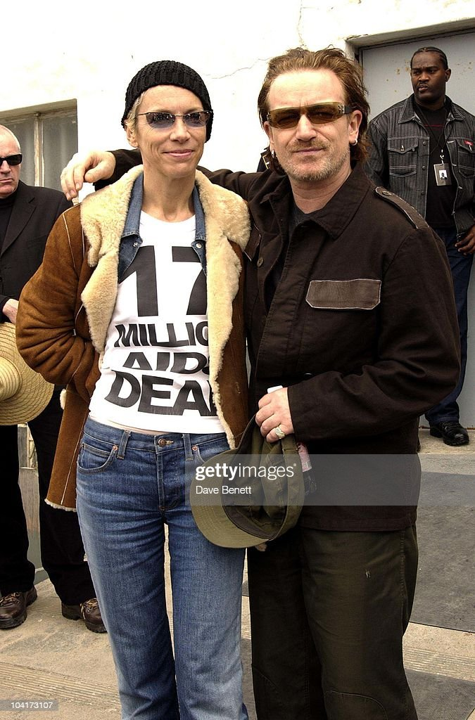 Annie Lennox And Bono, The Stars Of Rock And Roll Join Forces For Nelson Mandela's 46664 Concert In Cape Town, South Africa. In The Pre, Concert Build Up The Artists And Mr Mandela Travelled To The Prison On Robben Island, Where Mr Mandela Was Imprisoned For 27 Years And Was Known Simple As Prisoner 46664, South Africa Gears Up For Aids Awareness Mandela Concert 46664. The Concert Is In Association With Mtv's Staying Alive & Www.46664.com Powered By Tiscali.