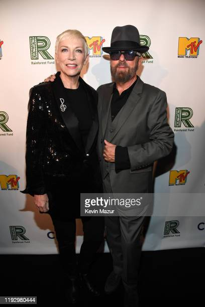 Annie Lennox and Dave Stewart attend The Rainforest Fund 30th Anniversary Benefit Concert Presents 'We'll Be Together Again' at Beacon Theatre on...