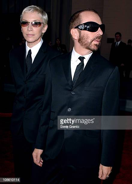 Annie Lennox and Dave Stewart of Eurythmics during 33rd Annual American Music Awards Arrivals at Shrine Auditorium in Los Angeles California United...