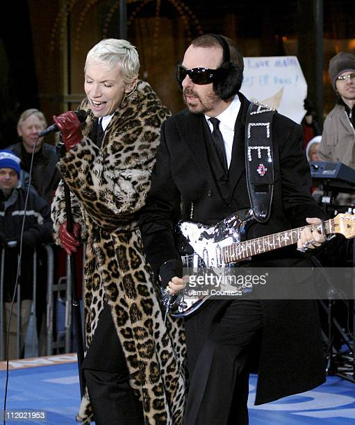 Annie Lennox and Dave Stewart of Eurythmics during Eurythmics Perform on the 2005 NBC's 'The Today Show' Holiday Concert Series at NBC Studios in New...