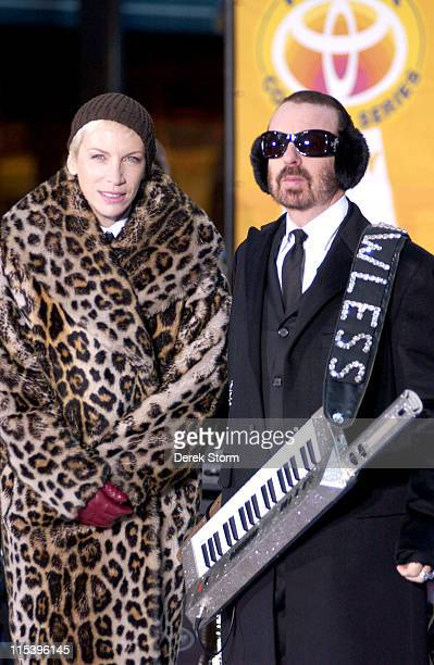 """Annie Lennox and Dave Stewart of the Eurythmics during Eurythmics Perform on the 2005 """"Today"""" Show Holiday Concert Series at NBC Studios in New York..."""