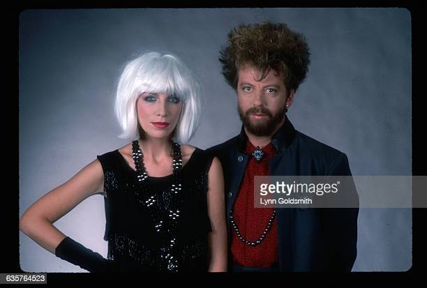 Annie Lennox and Dave Stewart of the rock band The Eurythmics