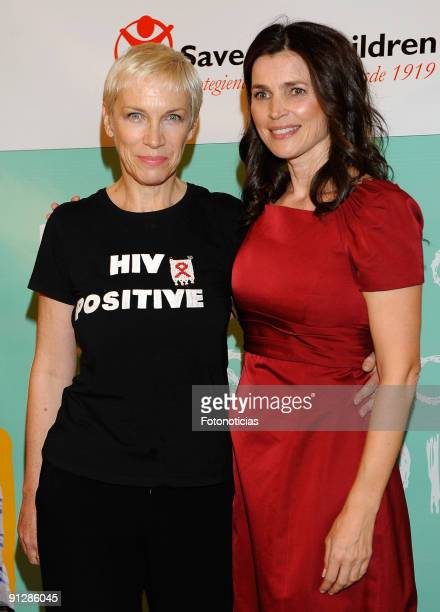 "Annie Lennox and Julia Ormond attend the ""Save The Children Awards"" ceremony, held at the Circulo de las Bellas Artes on September 30, 2009 in..."