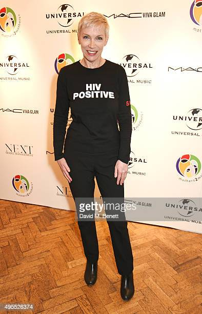 Annie Lennox attends a gala celebrating 15 years of mothers2mothers which she hosted at One Marylebone on November 3 2015 in London England