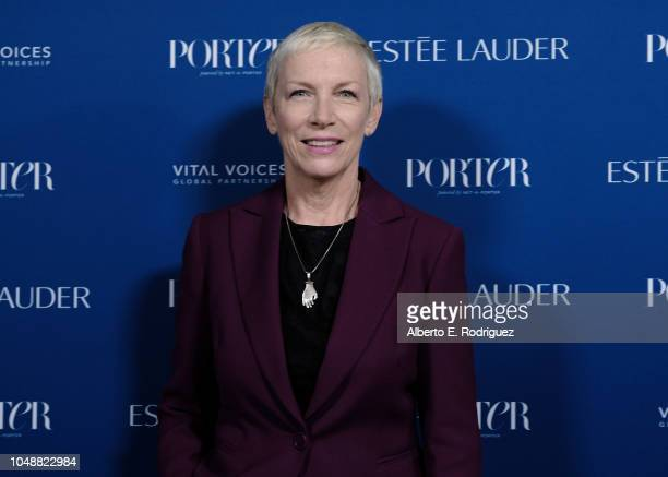 Annie Lennox attends Porter's Incredible Women Gala 2018 at Ebell of Los Angeles on October 9 2018 in Los Angeles California